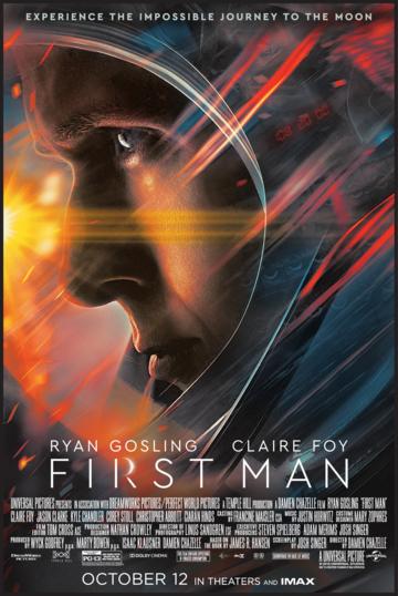 ผลการค้นหารูปภาพสำหรับ first man film poster